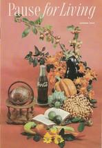 Pause for Living Autumn 1960 Vintage Coca Cola Booklet Space Savers Part... - $9.89