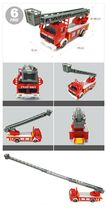 Fire Fighting Department Die-Cast Car Helicopter Tow Ladder Truck Vehicle Toy image 6