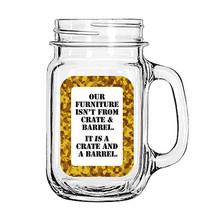 Decorative Vintage Glass Mason Jar Cup Mug Lemonade Tea Decor Painted Funny - £5.61 GBP+