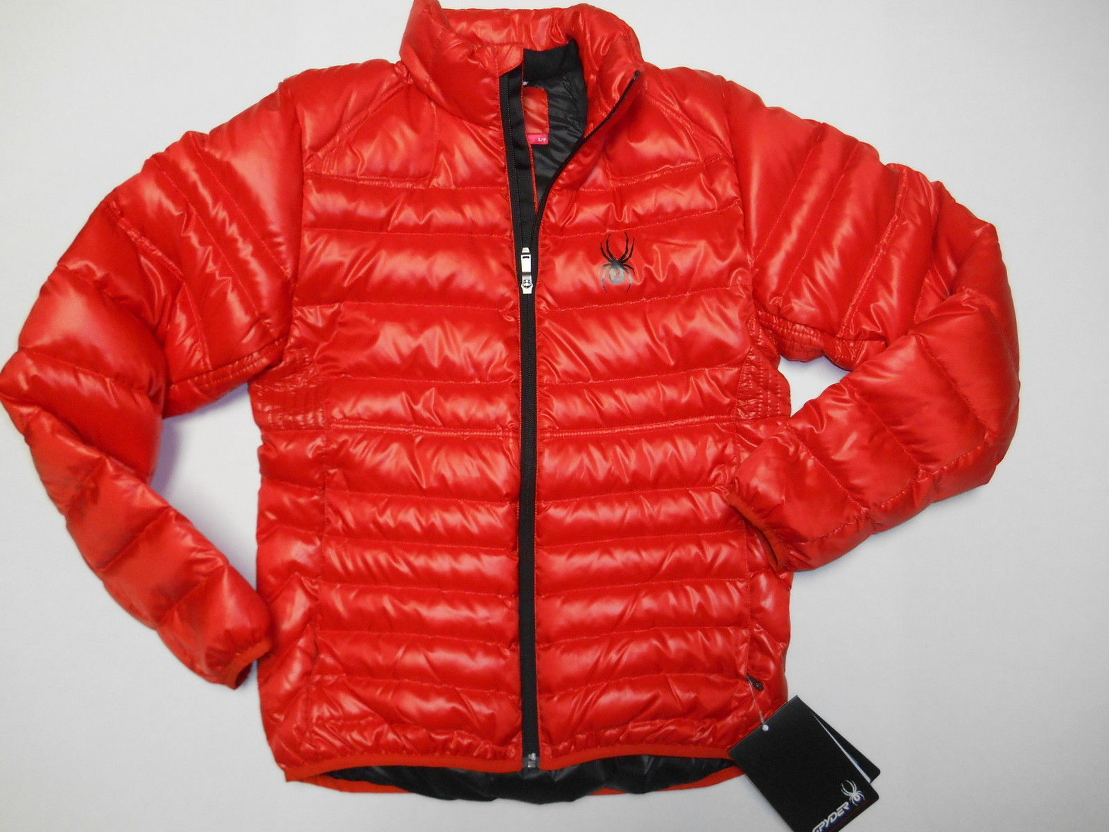 SPYDER MEN`S PRIMO DOWN JACKET COAT QUILTED SMALL 620 S SMALL ORANGE NEW