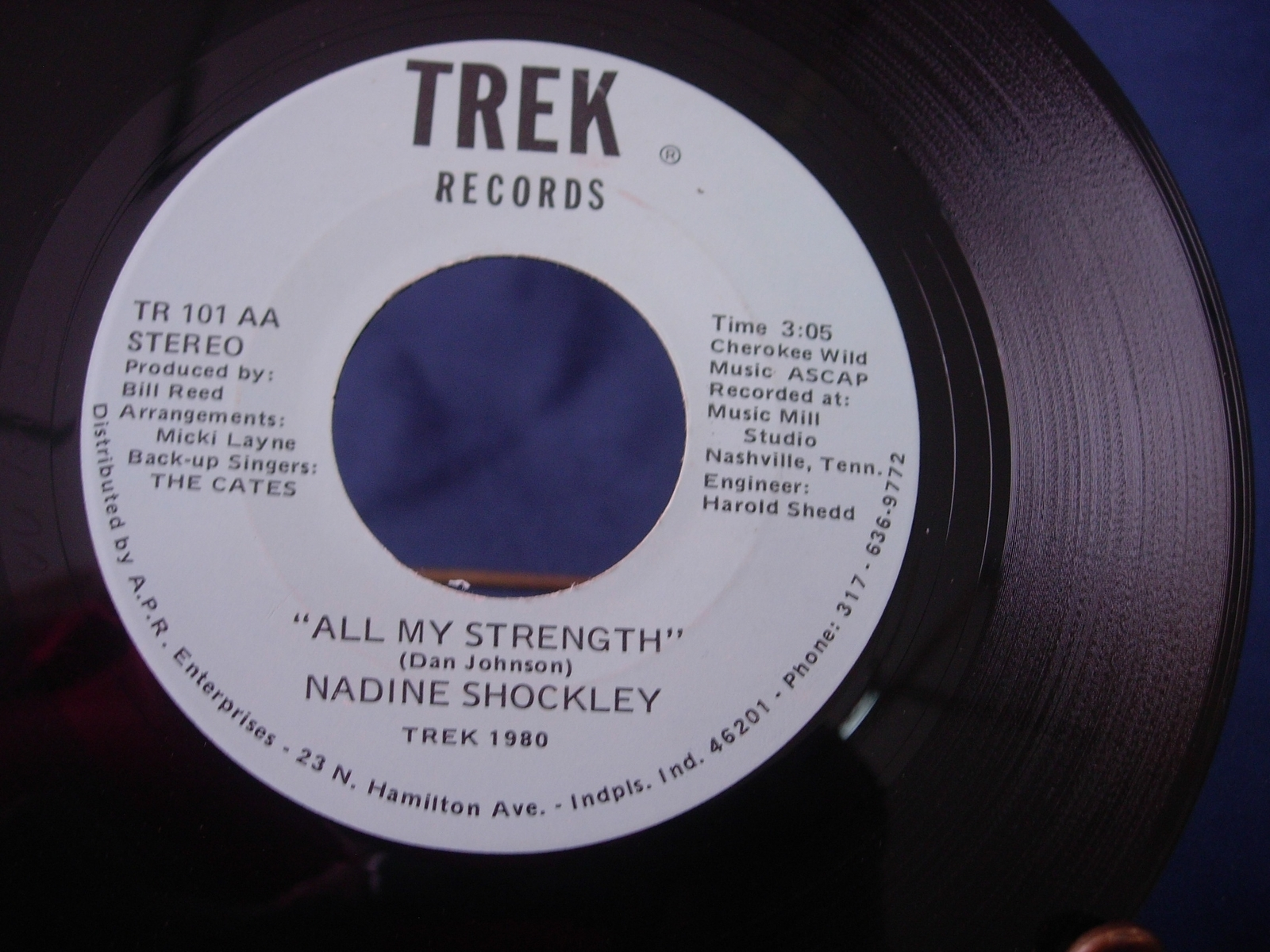 Nadine Shockley - Halfway to Paradise / All My Strength -  Trek Records TR-101