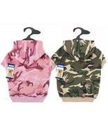 Dog Hoodie Camo Camouflage Hoodies Green Pink Pet Coat Sweatshirt - $14.99
