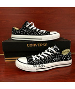 Low Top Converse All Star Musical Note Original Design Hand Painted Shoe... - $149.00