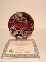 Frankin Mint Ahrens Fox Firetruck Fireman T 5526 Collector Plate With COA - $18.69