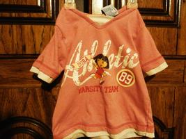 Nick Jr Dora Varsity Team Pink 5T short sleeve shirt - $10.00