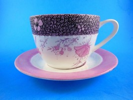 Bone China Cup & Saucer Flowers Inside & Out Gibson Elite RARE - $11.08