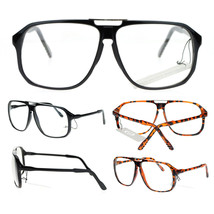 Mens Retro Robotic Nerdy Geek Sport Keyhole Oversize Optical Eye Glasses - $7.95