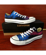 Low Top Galaxy Space Design Converse All Star Hand Painted Shoes Unisex ... - $145.00