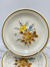 Mikasa Vintage Salad Plates Summer Flowers Kl 801 Japan Set Of 4 - $39.59