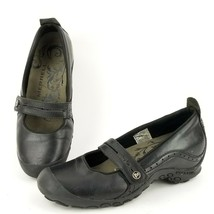 Merrell Plaza Bandeau Mary Jane Mocs Womens Size 10M Black Leather Slip-On Flats - $27.74