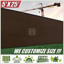 ColourTree 5' x 25' Fence Privacy Screen Windscreen Cover Fabric Shade T... - $53.45