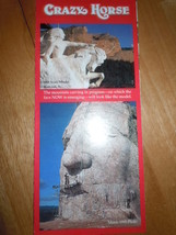 Crazy Horse South Dakota Travel Souvenir Brochure 1995 - $4.99