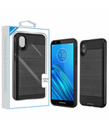 For Motorola Moto E6 Hybrid Protective Shockproof Rubber Rugged Hard Cas... - $7.82