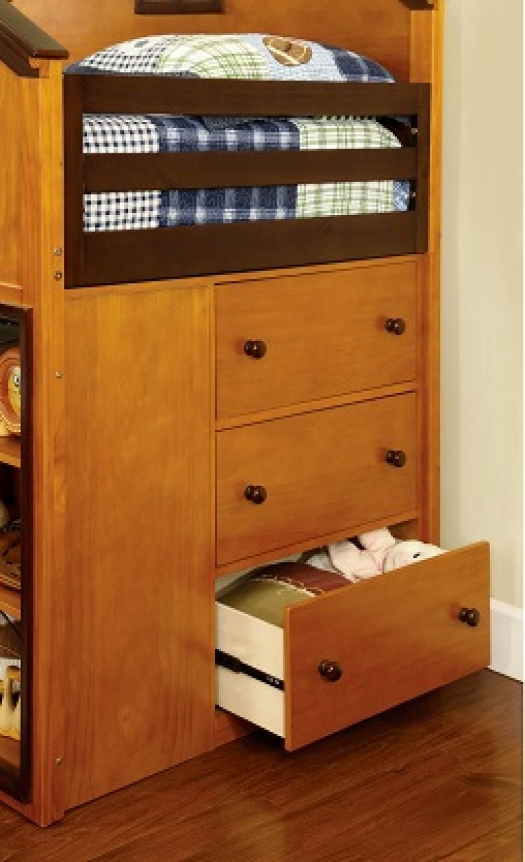 Bed loft house twin kids school bunk stairs drawers storage bedroom sets - Kids twin beds with storage drawers ...
