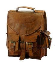 """13"""" Men's Leather Vintage Backpack Shoulder Bag Messenger Bag Rucksack Handmade image 3"""