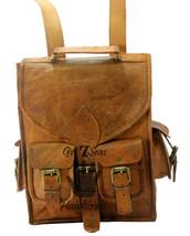 """13"""" Men's Leather Vintage Backpack Shoulder Bag Messenger Bag Rucksack Handmade image 5"""