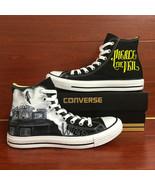 Sneakers Women Men's Converse All Star Pierce the Veil Design Hand Paint... - $155.00