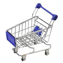 Mini Shopping Cart Folding Supermarket Handcart Basket Toy Utility Stora... - $7.00
