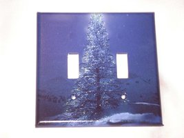 CHRISTMAS TREE XMAS- DOUBLE Light Switch Plate / Cover - $7.50