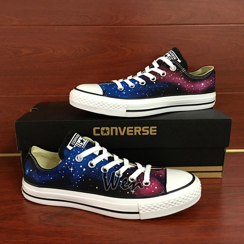 b5c9d9f1ca096d Unisex Sneakers Low Top Red Galaxy Design and similar items