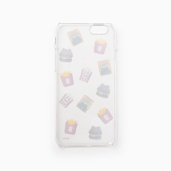 LINE Friends Clear Burger & Chips iPhone Hard Case SE/5/5s/6/6s/Plus Cover Acc