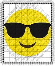 1/4 Sheet - Emoji Sunglasses Birthday - Edible Cake/Cupcake Party Topper!!! - $8.50