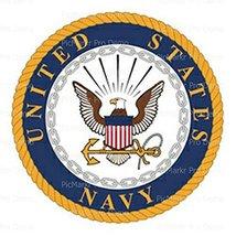 1/4 Sheet - U.S. Navy Logo Birthday - Edible Image Cake/Cupcake Party To... - $8.50