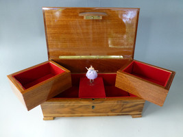 EXC. VINTAGE SWISS REUGE DANCING BALLERINA MUSIC JEWELRY BOX (WATCH THE ... - $391.05