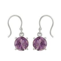 Sterling Silver Earring For Women Jewelry Amethyst Gemstone 925 Silver SHER0023 - $12.79