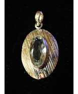 Lovely - Sterling Silver and White Topaz Pendant - $38.00