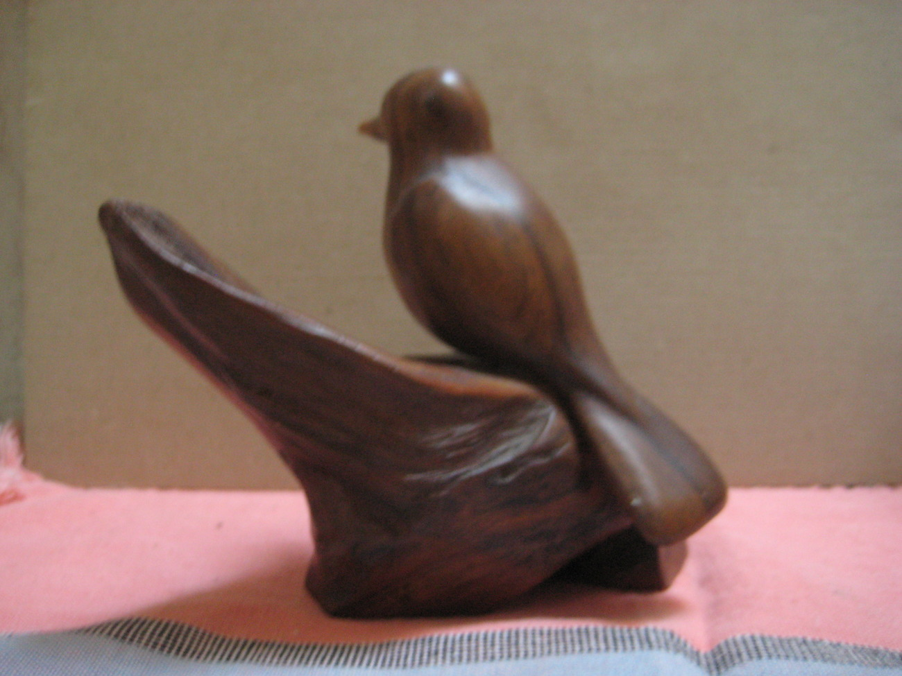 Walnut Carved BIRD SCULPTURE by E.YEAGLE - EAMES ERA  excellent condition