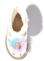 Cat & Jack Toddler Girls Hillary Natural White Glitter Unicorn Fashion Boots NEW image 3