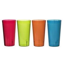 Caf BreakResistant Plastic 20oz RestaurantQuality Beverage Tumblers Set of - $25.62