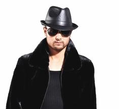 Men's Women's BLACK 100% REAL Leather Top hat, Gentleman hat - $19.99