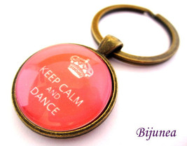 Keep calm and dance keychain - Red keep calm ke... - $11.90