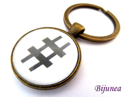 Music keychain - Music note dance keychain - Mu... - $11.90