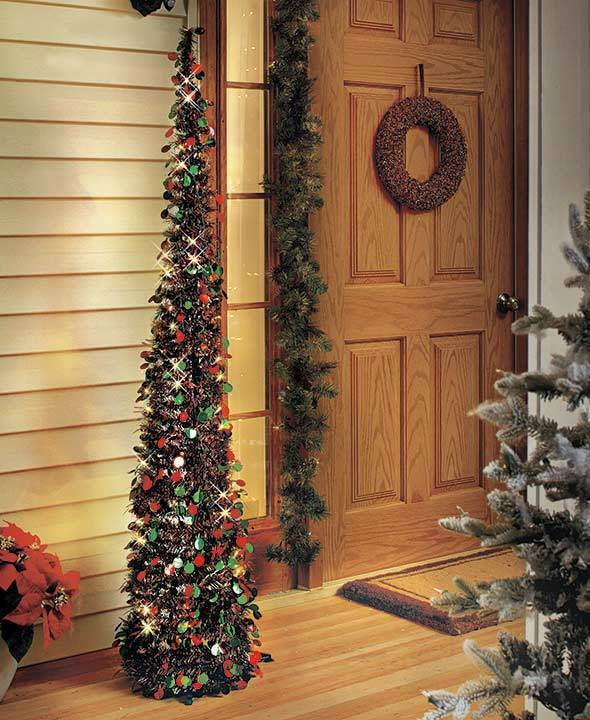 Battery Operated Christmas Tree Lighted Home Decor Holiday Wireless Timer Outdoo Artificial