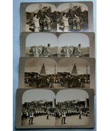 (4) Stereoview (Stereopticon) Cards depicting Early Scenes from Japan & ... - $19.00