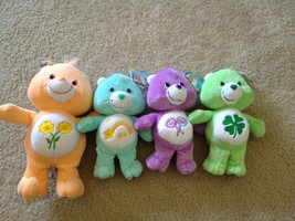 CARE BEARS LOT PLUSH (FRIEND, WISH, SHARE AND GOOD LUCK BEARS) NWT - $55.00