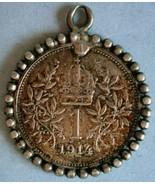 1914 Austrian 1 Corona Silver Token/Pendant - $24.70
