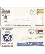 126. (2) LARAMIE and DENVER R.P.O. Cancellations - $9.90