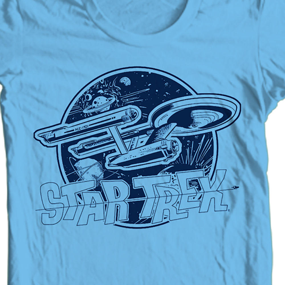 Star trek enterprise t shirt cbs936