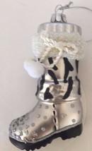 Glass Blown Christmas Tree Ornament Women Winter Boots Holiday Decor - $28.04
