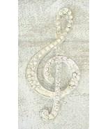Elegant Art Deco 1920s Crystal Rhinestone G-clef Music Note Brooch Vintage - $29.65