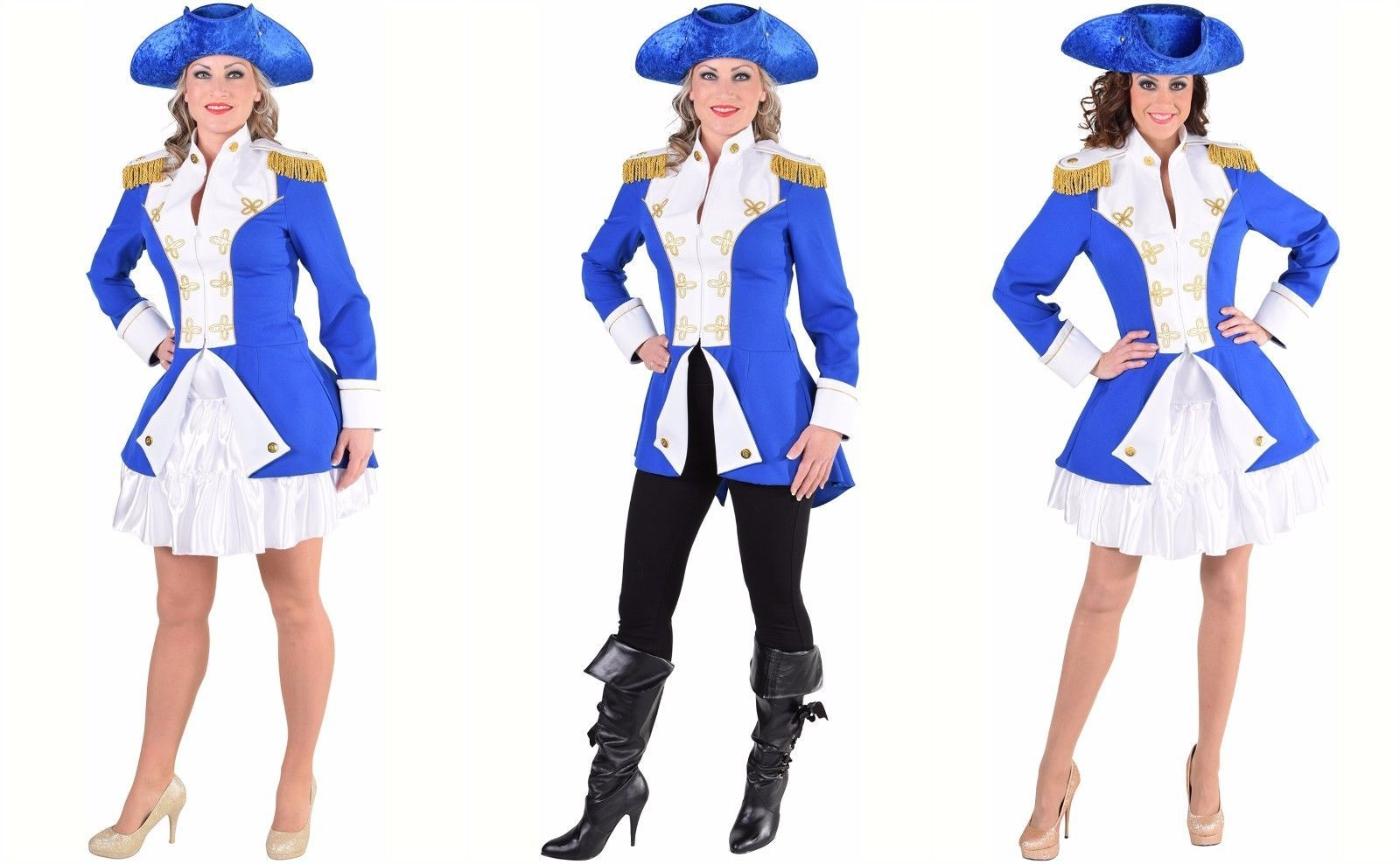 Primary image for Ladies Napoleonic / Soldier Jacket - Blue. Sizes 6- 22