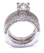 2 ct Round Cut Cz Zirconia Solitarie Wedding En... - $18.99
