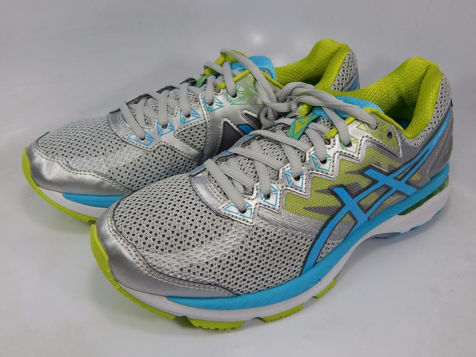 Asics GT 2000 v 4 Women's Running Shoes Size US 8.5 M (B) EU 40 Silver T656N