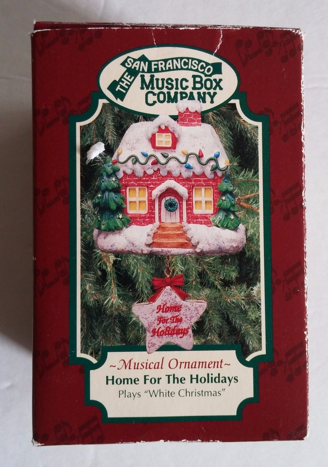 San Francisco Music Box Company Home For The Holidays White Christmas Ornament