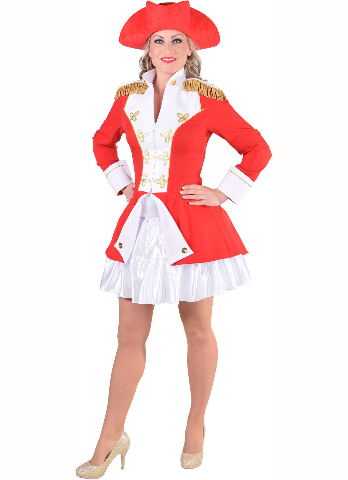 Ladies Napoleonic / Soldier Jacket - Red. Sizes 6- 22 image 4