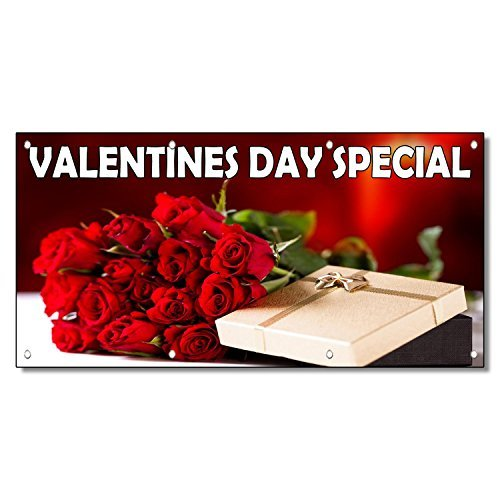Valentines Day Special Style 4 13oz Vinyl Banner Sign With Grommets 2 Ft x 4 Ft